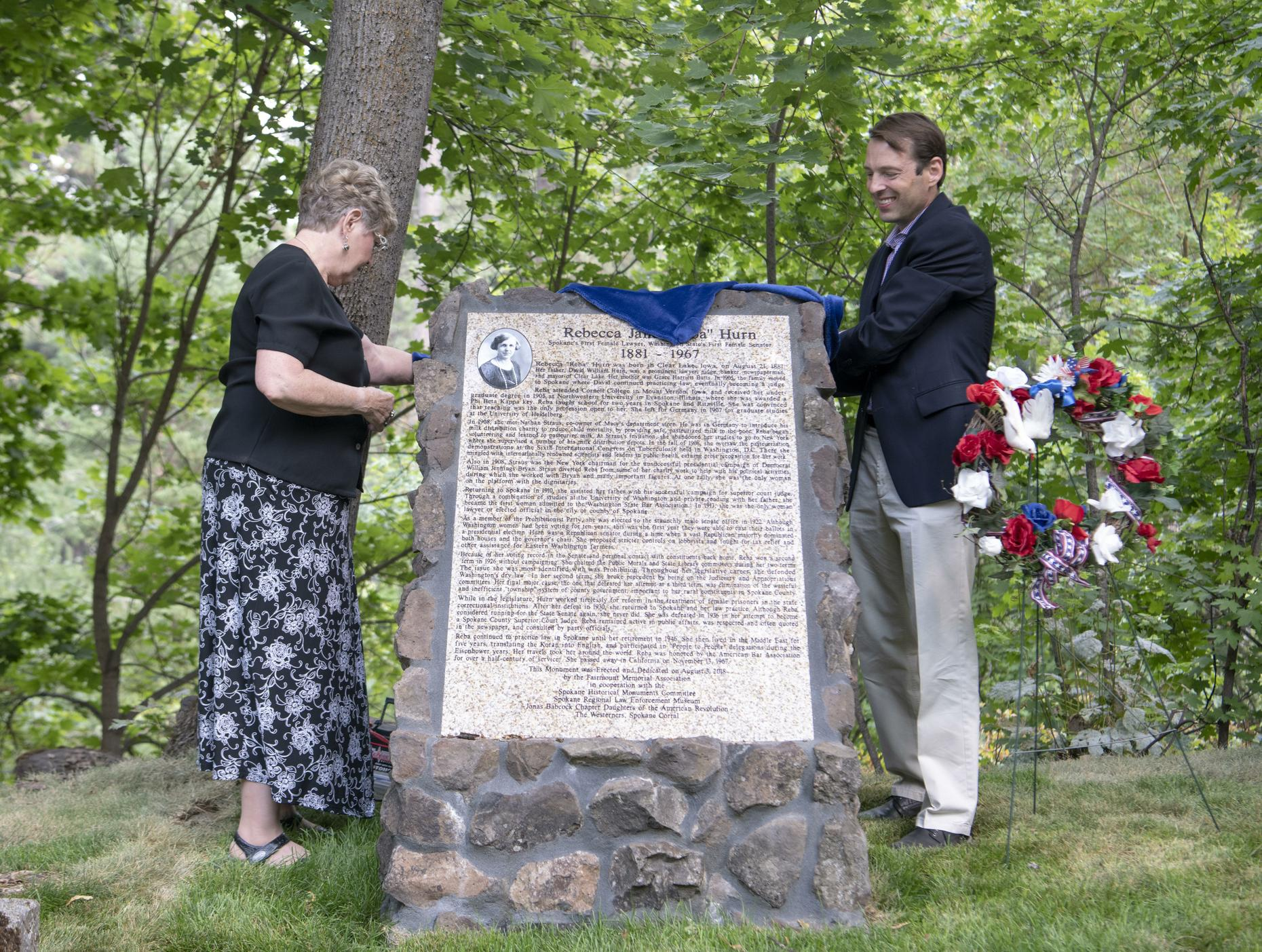 "The Rebecca ""Reba"" Jane Hurn Monument unveiling ceremony"