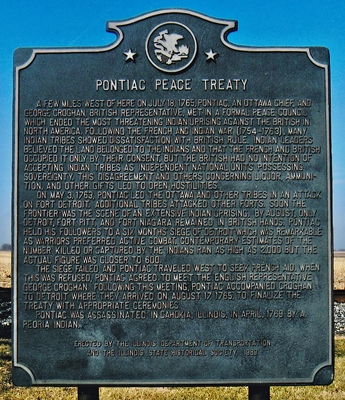 Pontiac Peace Treaty historical marker