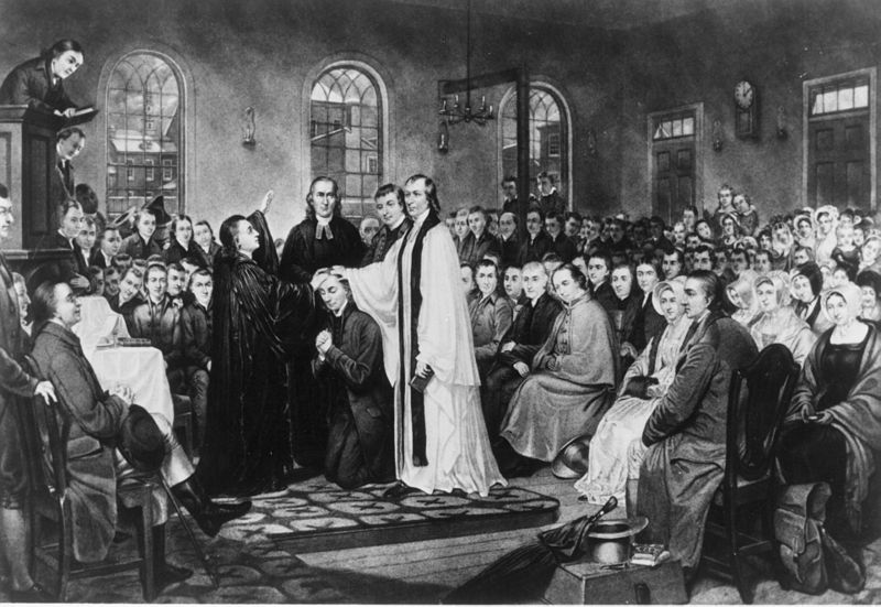 1882 engraving depicting Francis Asbury's ordination as bishop.