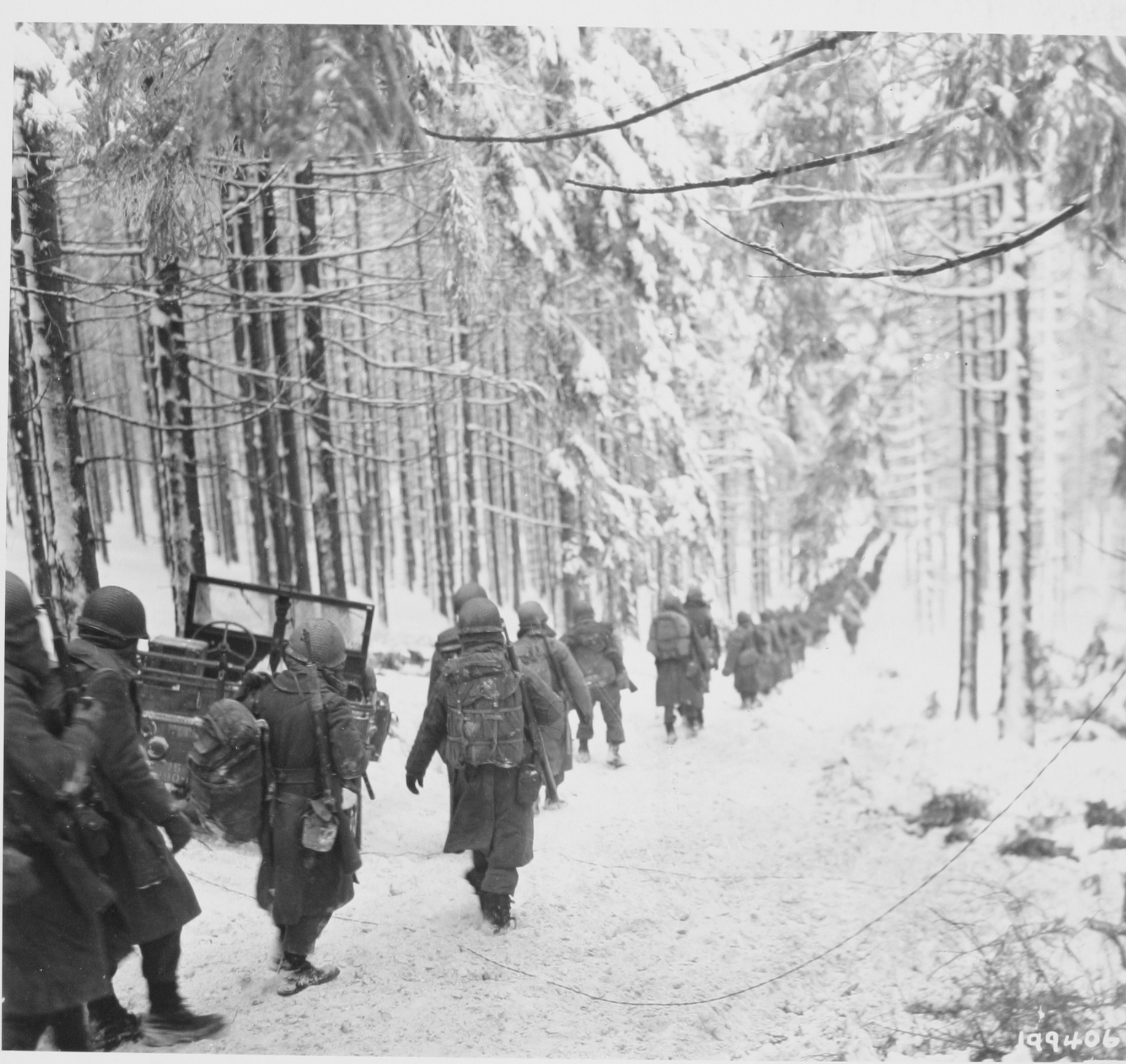 American soldiers during Battle of the Bulge