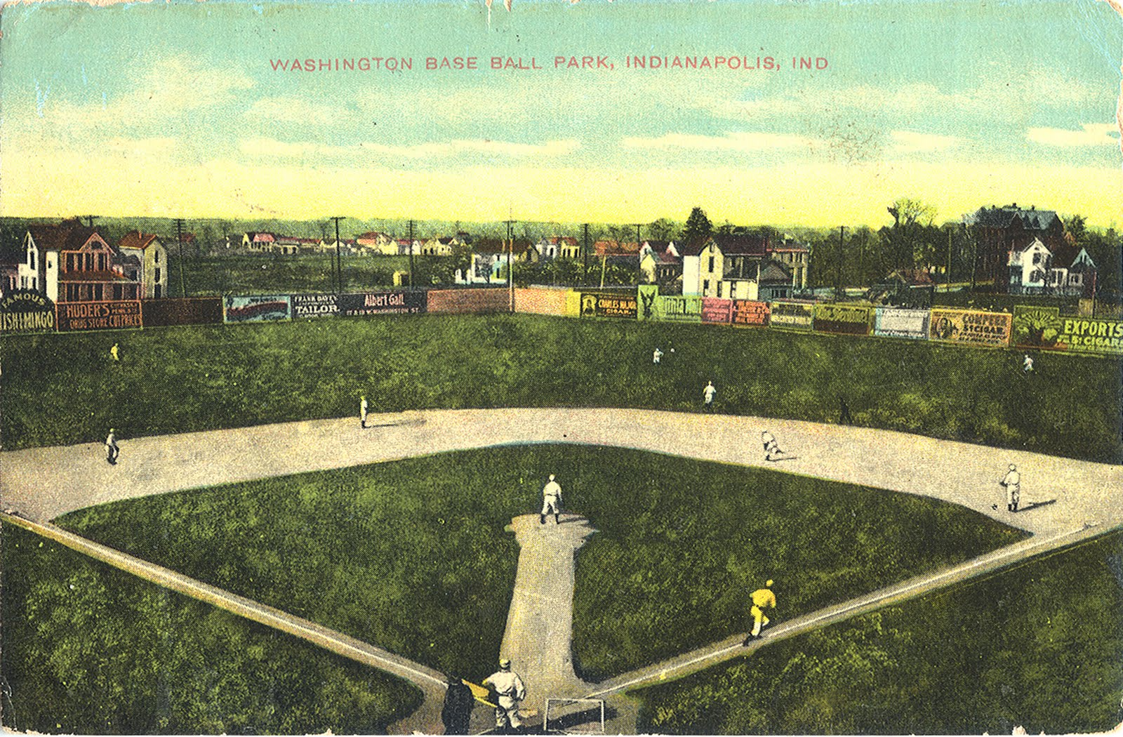 The original Washington Baseball Park as depicted on a postcard in the possession of Rex Hamann. The park was in use from 1900-1905.