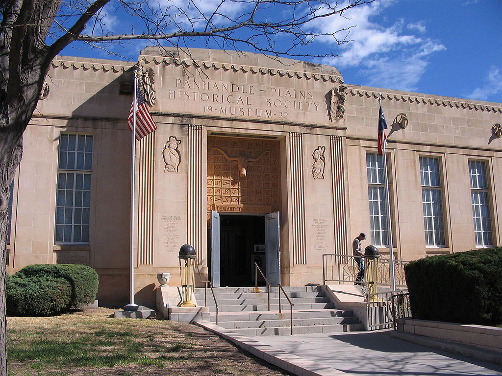 Entrance to the Panhandle-Plains Historical Museum