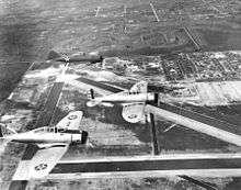 P-35's flying over Morrison Field