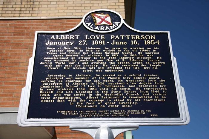 Albert Patterson Assassination Marker