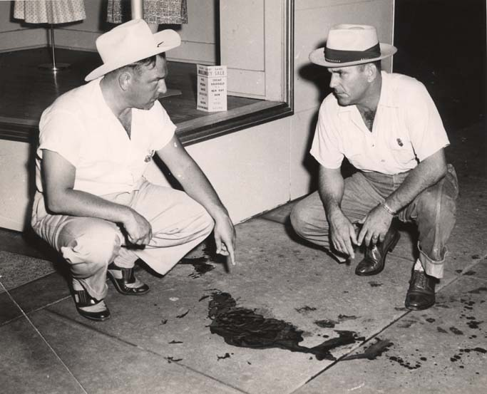 Albert Patterson's blood on the night of June 18, 1954.