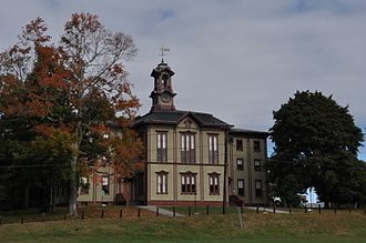 The Woodstock Academy classroom building, built in 1873, is the oldest remaining building on the academy's campus.