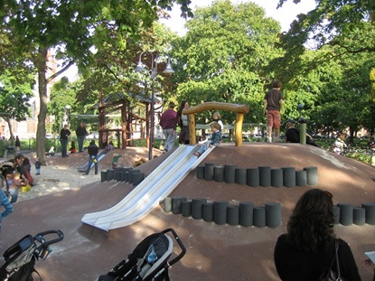 The Common includes the Alexander W. Kemp Playground, which was redesigned and reopened in 2009. Source: City of Cambridge website (public domain)