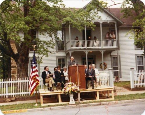 The dedication of the newly restored Sarah Bird Northup Ridge House