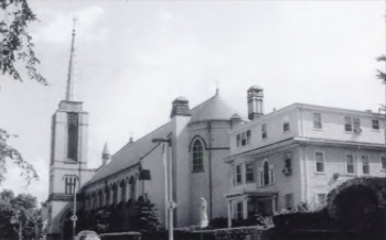This is Roslindale's Sacred Heart Church on Cummins Highway (previously known as Ashland St.) The Church was built in 1893 and still stands today as one of the major churches in the Roslindale community.