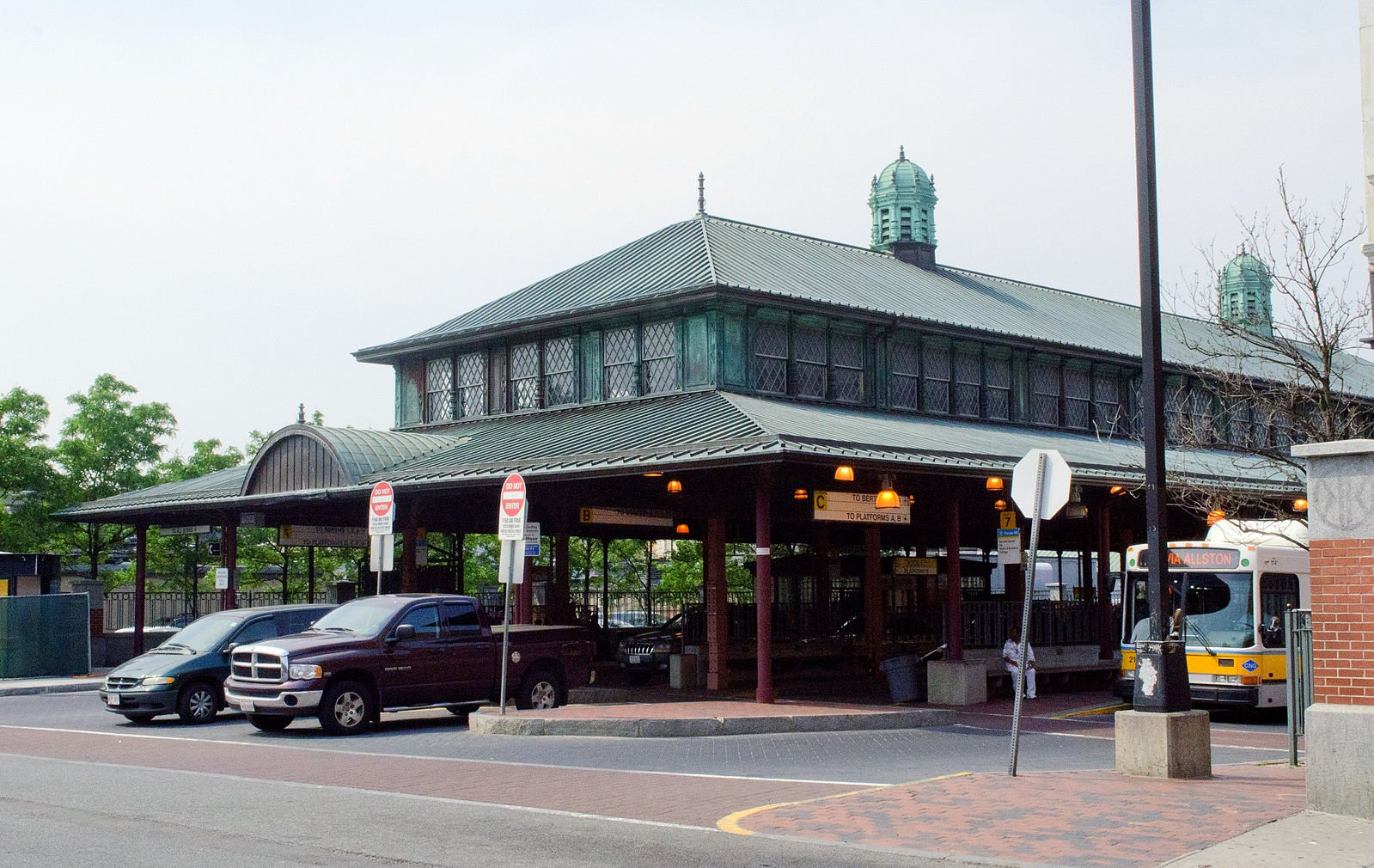 The current appearance of Dudley Station.  The photo was taken by Tim Pierce on June 1, 2011.