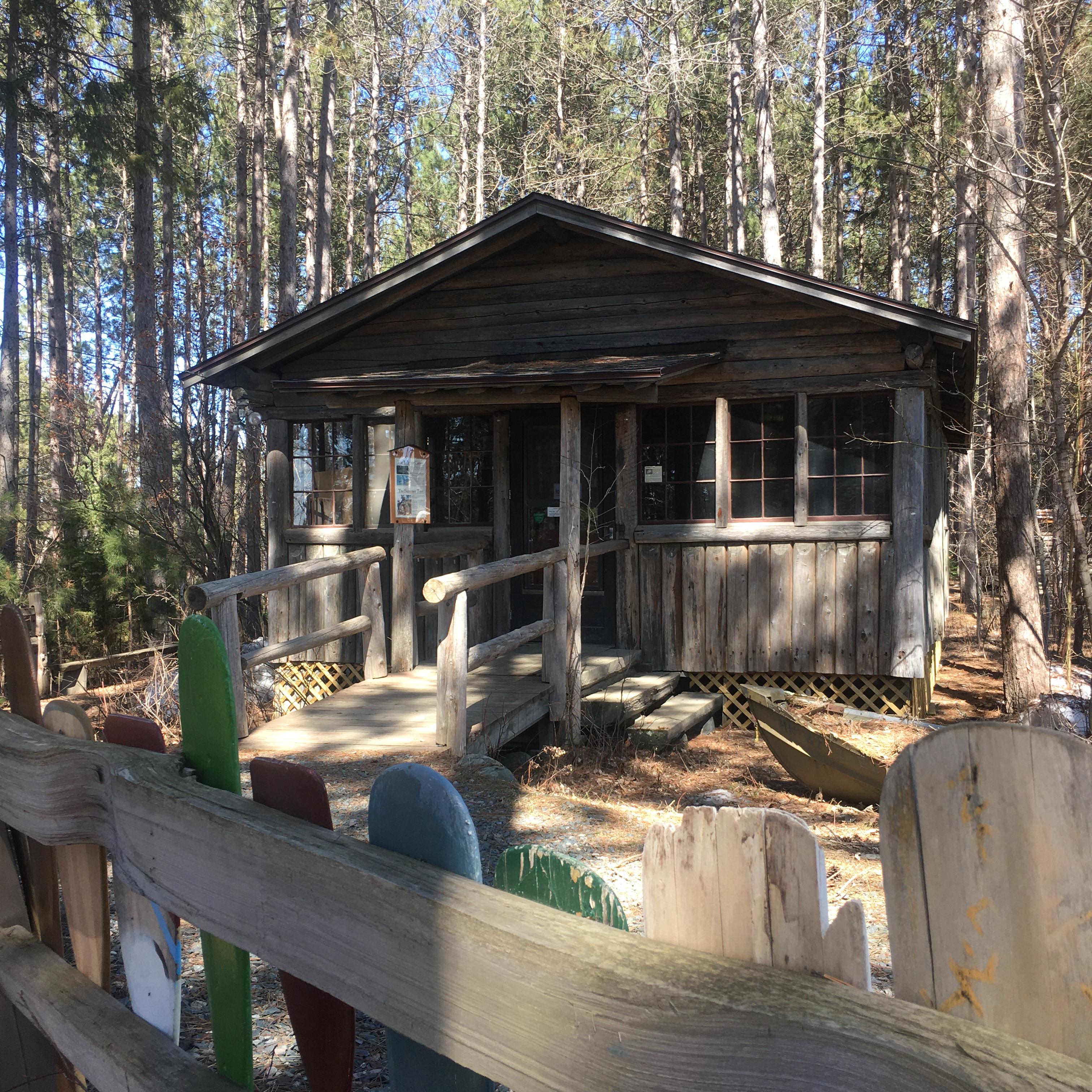 Winter Cabin Entrance