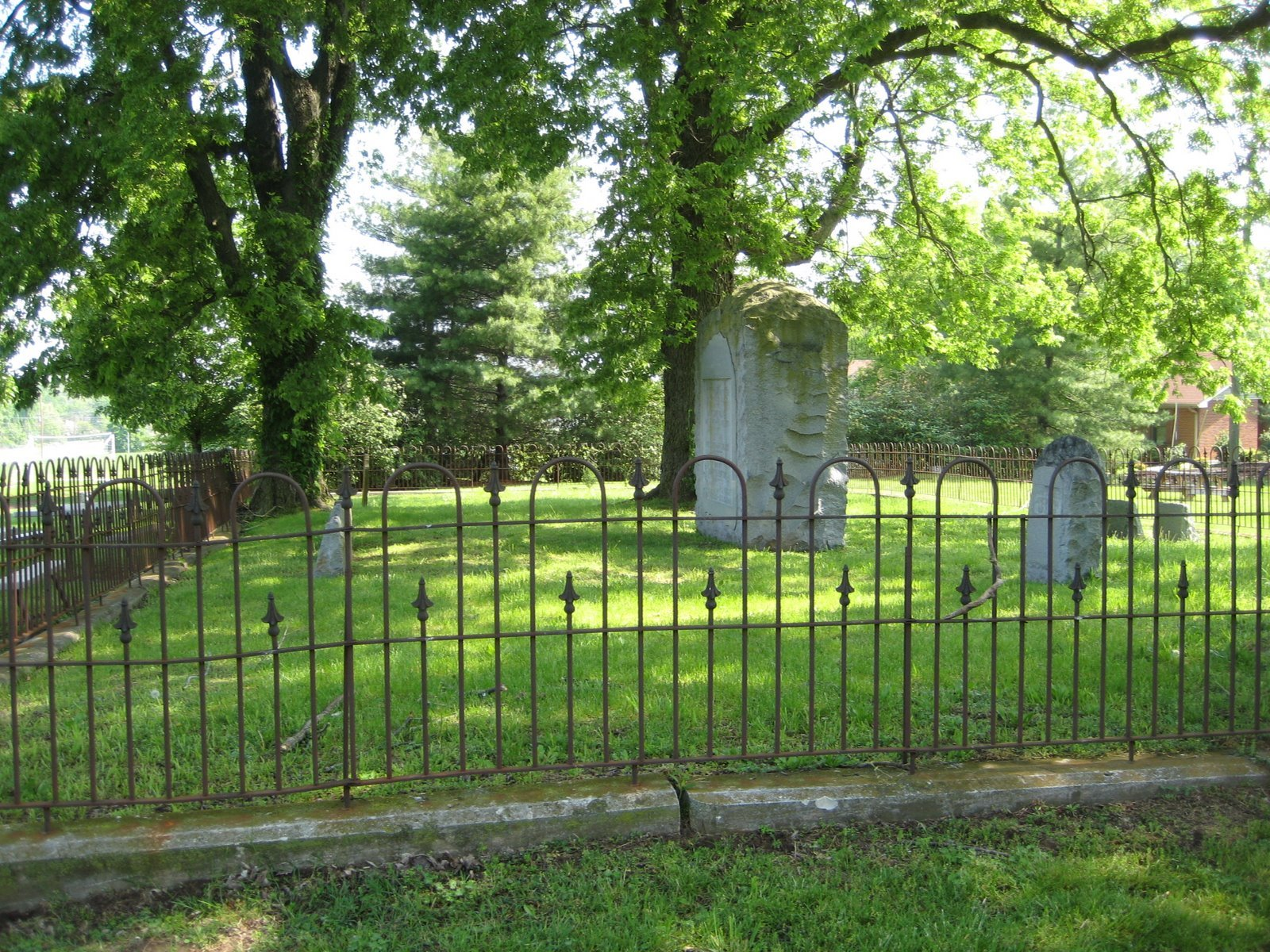 The family cemetery is located approximately five hundred yards from the Mansion on a knoll that overlooks Stone's River bottom land. Credit: Dori & Dick