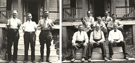 Resident Wardens in front of the Herrington Manor House, 1932, photo courtesy of Maryland Department of Natural Resources