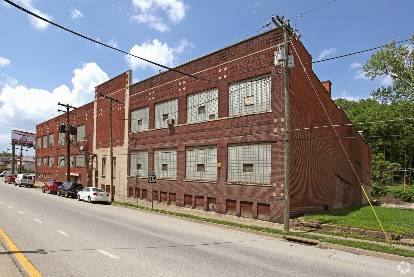 This is the current street view of the building today. The factory opened its doors in 1919 it was only an 1100 square foot building. Two other factories combined with the original occupied 138,000 square feet. Photo courtesy of loopnet.com