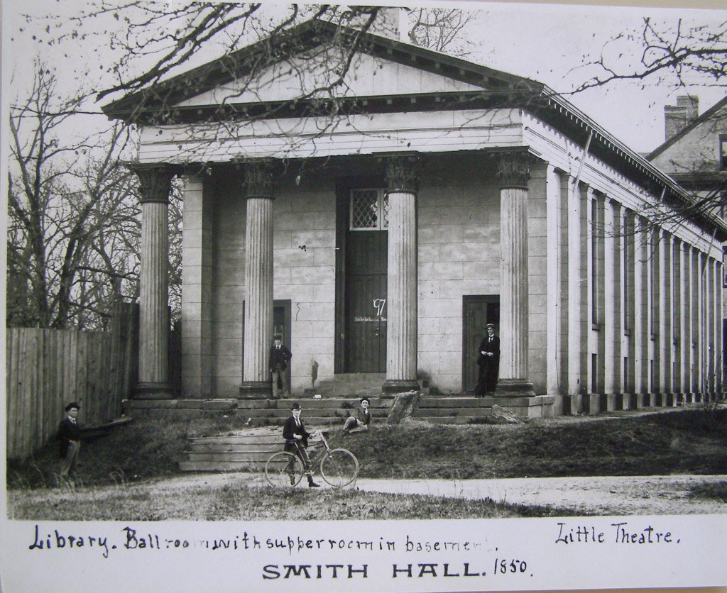 The Playmakers Theater, originally named Smith Hall, in 1850.