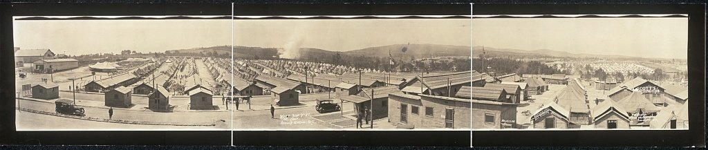 "West from ""Y"" 82, at Paris, Camp Sevier, S.C.