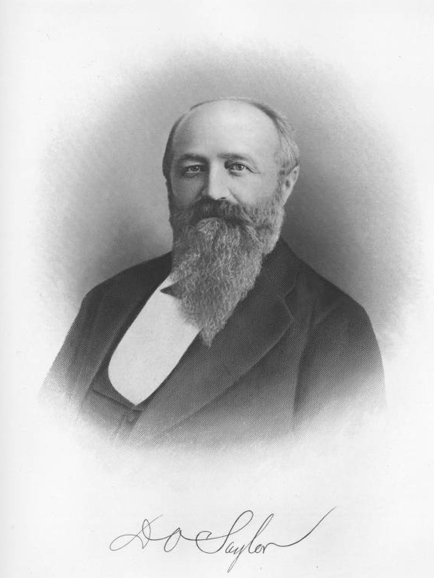 A photograph of David O. Saylor, one of the founders of the Coplay Cement Company.