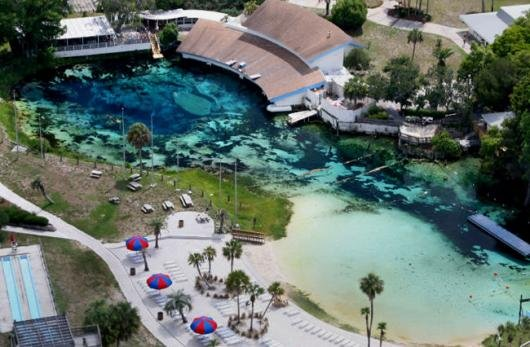 Aerial view of Weeki Wachee Springs