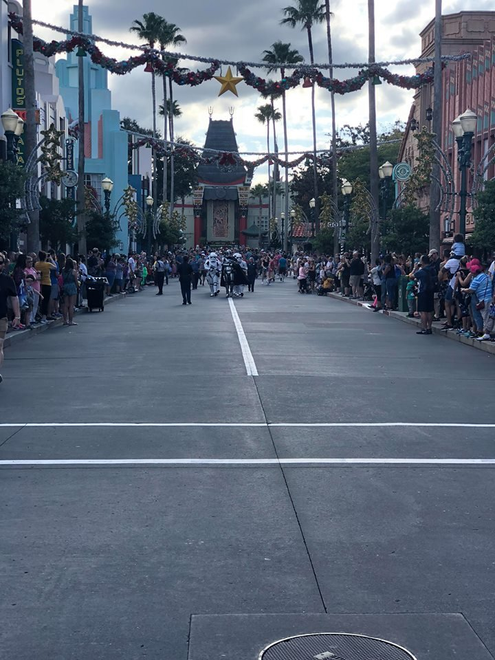 Hollywood Boulevard without the iconic Mickey Mouse sorcerer hat.
