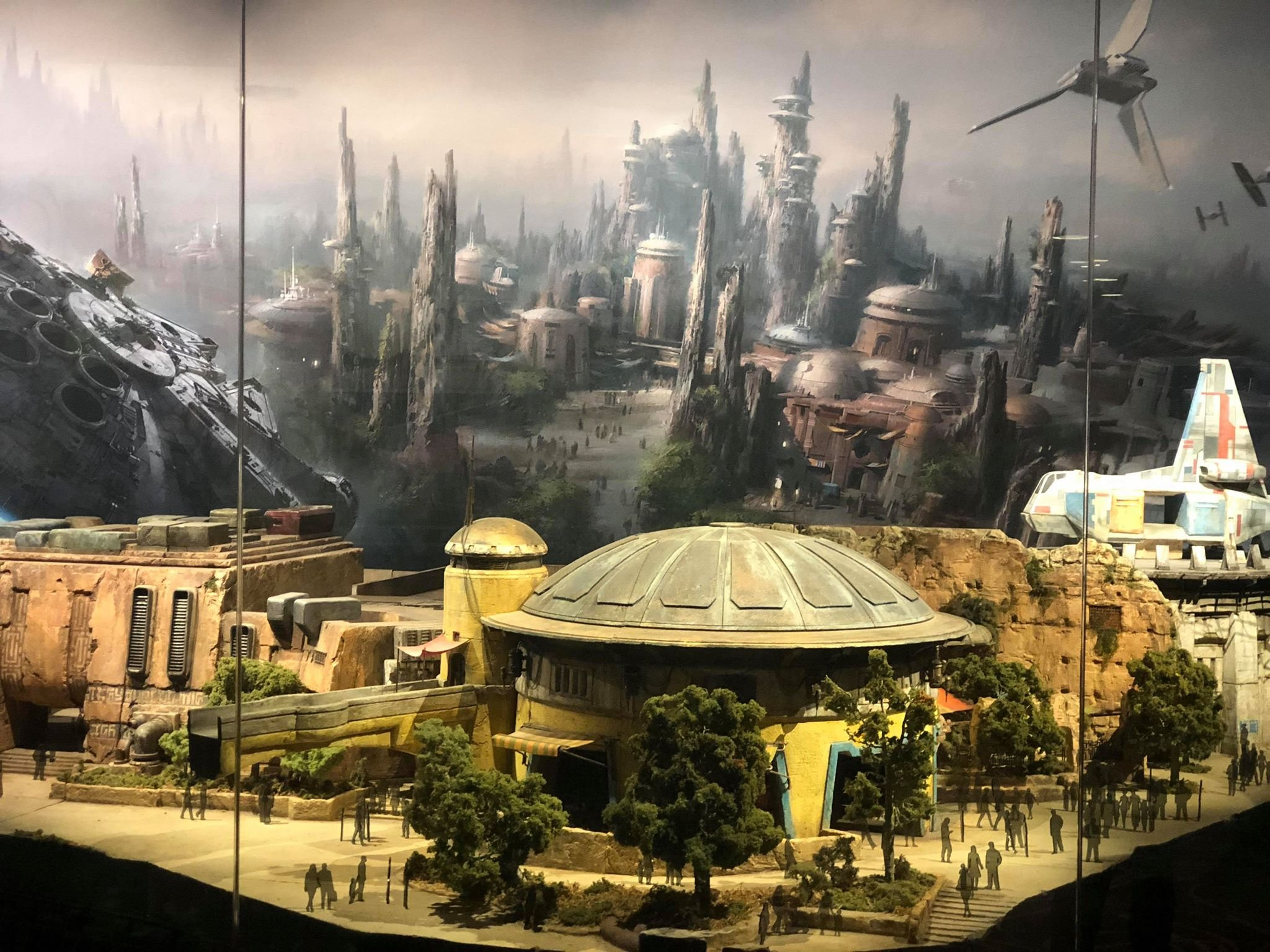 The model of Star Wars Land