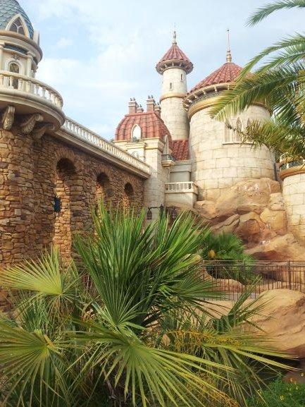 """The Little Mermaid Caste in Walt Disney's Magic Kingdom. Inside is a dark ride call """"The Little Mermaid- Ariel's Undersea Adventure. McClintic, Tori. """"The Little Mermaid Castle."""" 2018. PG."""