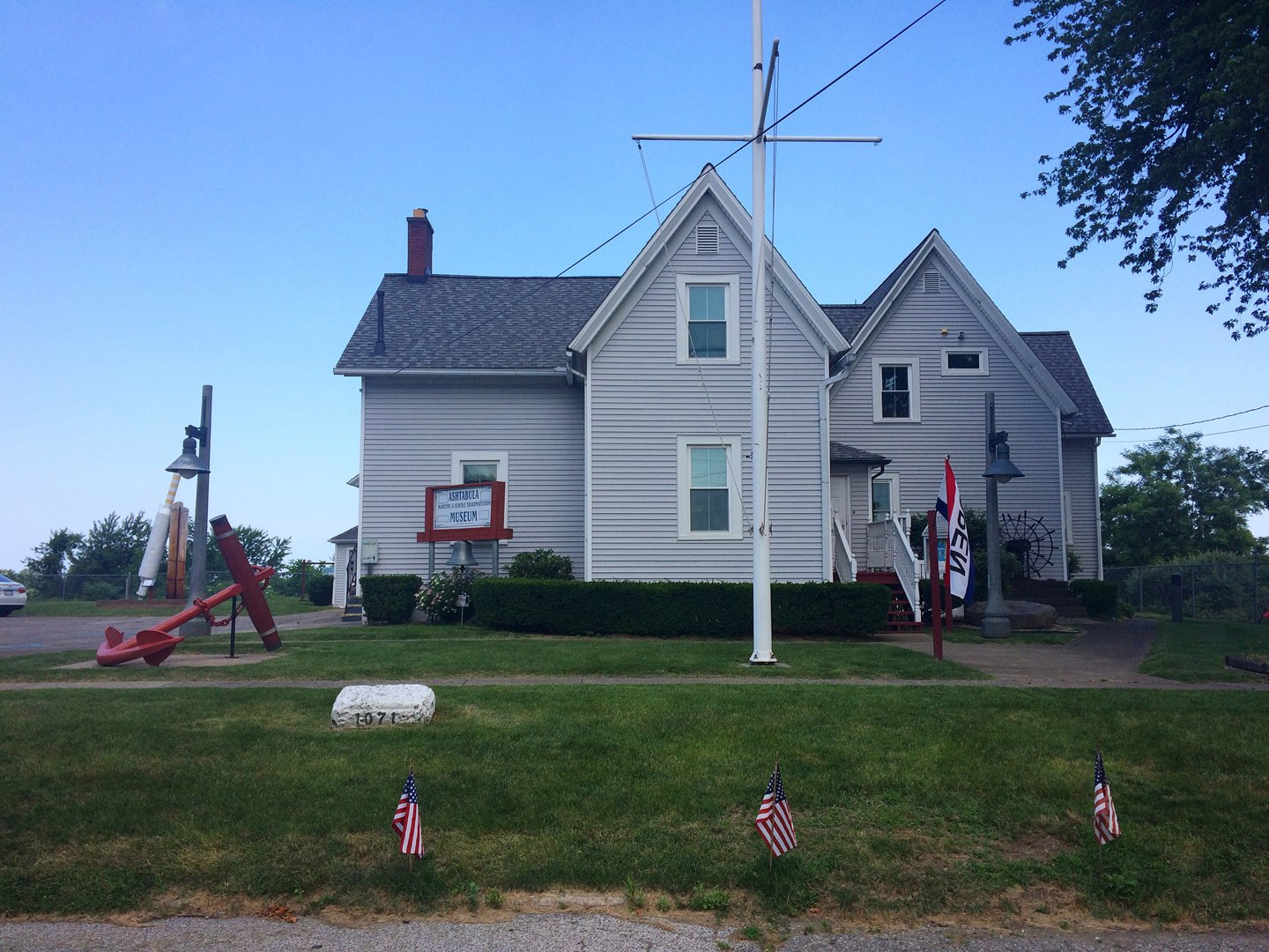 Front view of the Ashtabula Maritime & Surface Transportation Museum, once the residence of the Ashtabula Lighthouse keepers. (Photo: Brianna Treleven)