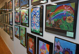 Display of children's art works
