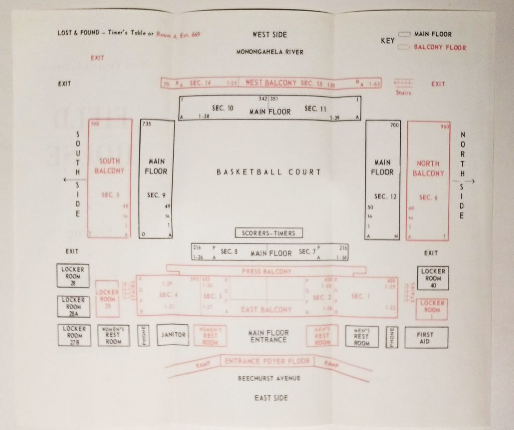 Original designs for the Field House, meant to seat 6,000