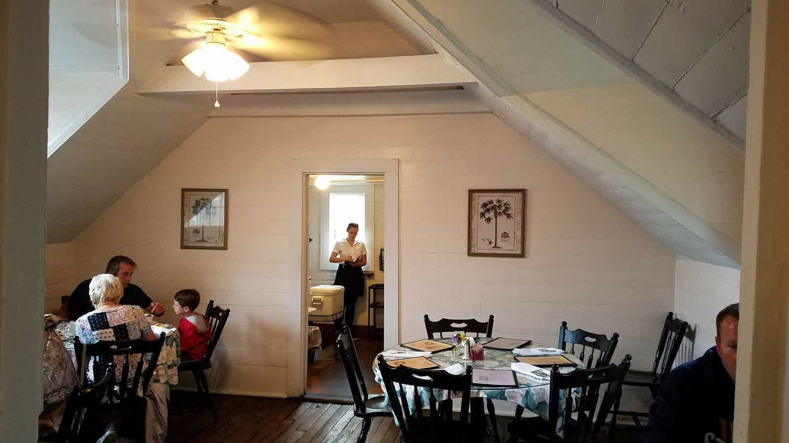 Upstairs dining room. Photo submitted to Zagast.