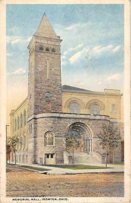 A postcard from Ironton, Ohio. From circa 1930s. Shows the great prestige that, not only the artist of the painting had but, the community had for the Memorial Hall.