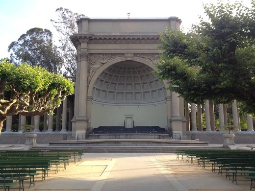 Spreckels Temple of Music, built in 1900, as a bandshell in the Music Concourse in Golden Gate Park