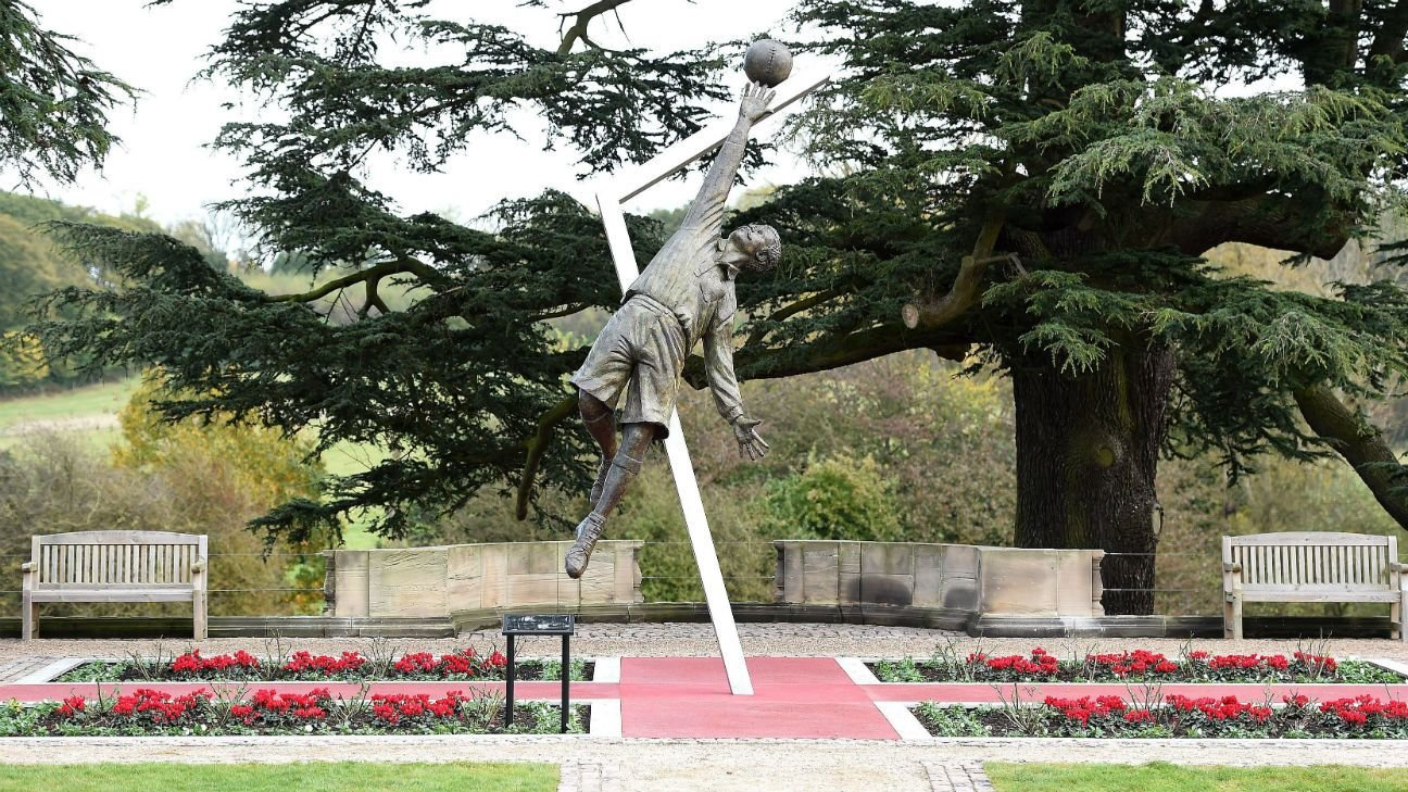 Arthur Wharton statue at St. George's Park sculpted by Vivien Mallock
