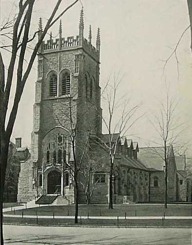 Here is the church as it looked in September of 1907, shortly after its construction.