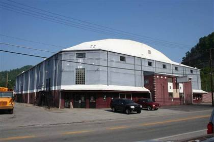 Currently, this is what the front view of the Williamson Field House looks like.