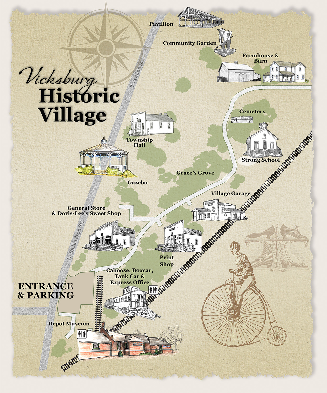 Map of Vicksburg Historic Village