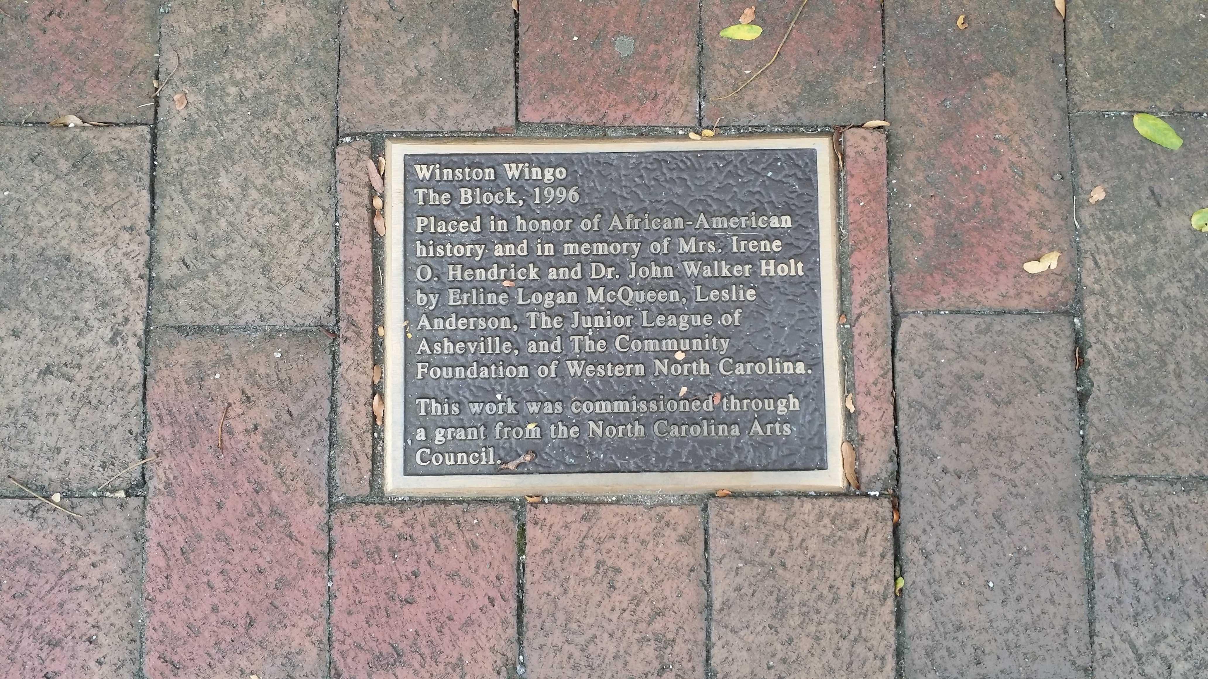 """""""The Block"""" marker plaque Credit Michael C. Wilcox, September 4, 2016"""