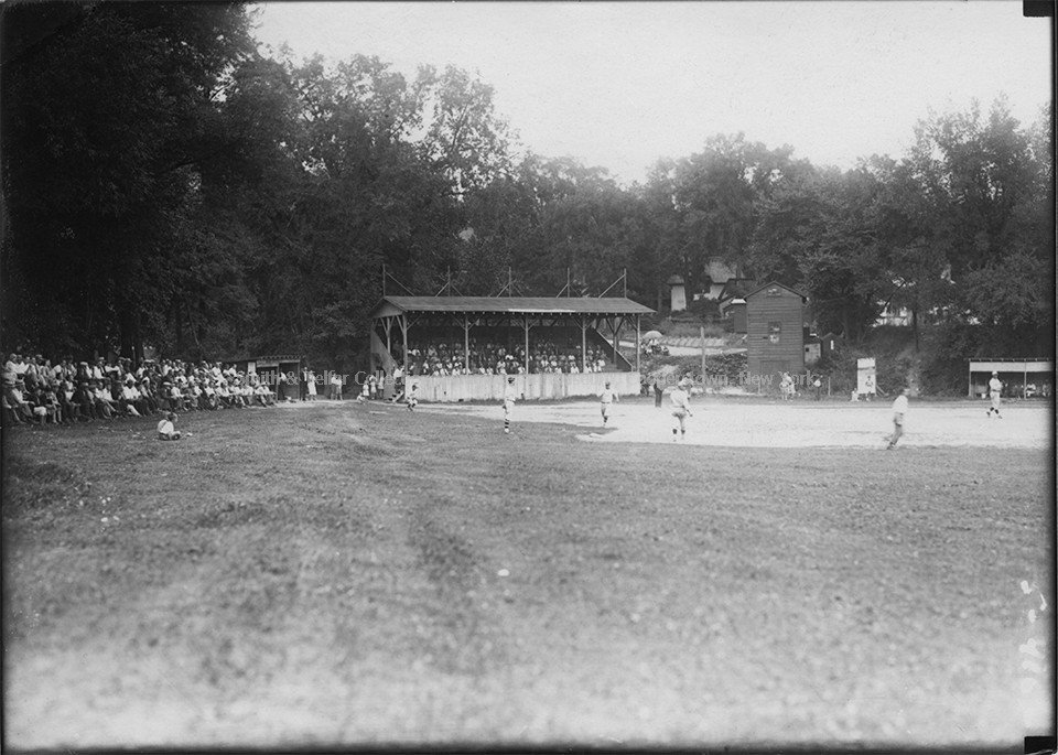 Grandstand that opened on June 4, 1924, holding 250 seats