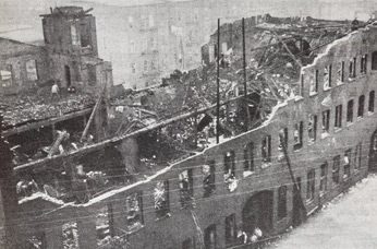 On November 25, 1910, this factory at the corner of Orange and High Street (now MLK Jr. Boulevard) caught fire and trapped 26 women.