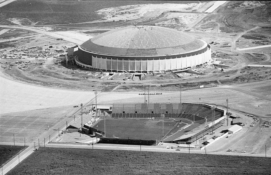 The Stadium and Astrodome after it's last MLB game in 1964.