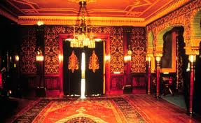 One of the rooms in the mansion