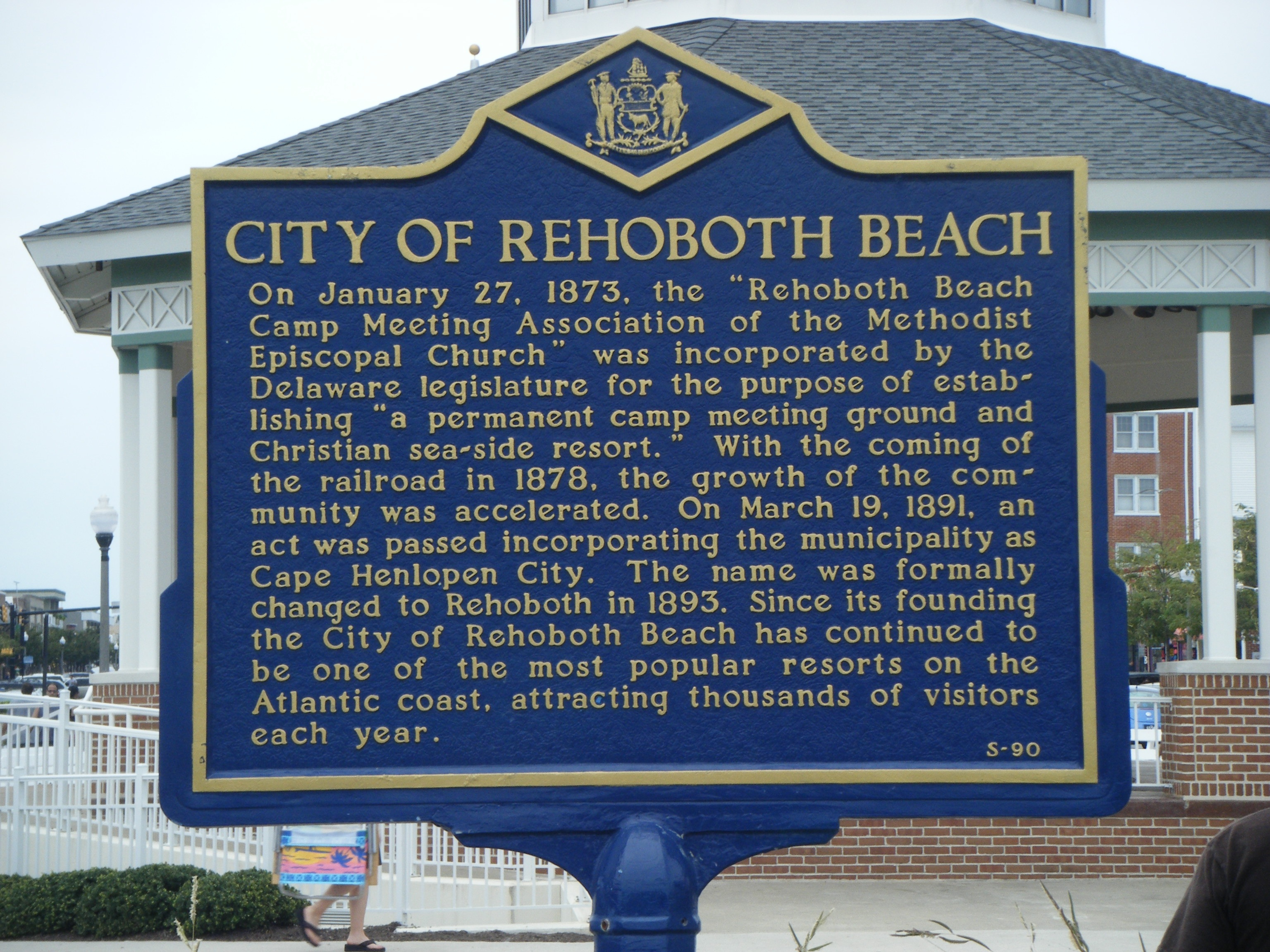 Rehoboth Beach Marker.