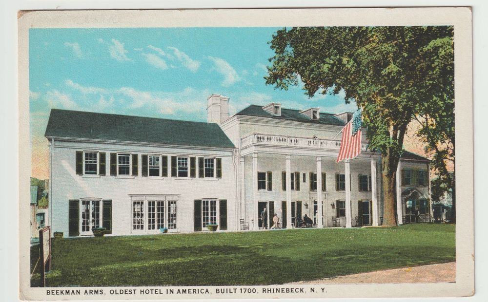 Vintage Beekman Arms Postcard That Reads: Beekman Arms, Oldest Hotel in America, Built 1700. Rhinebeck, NY
