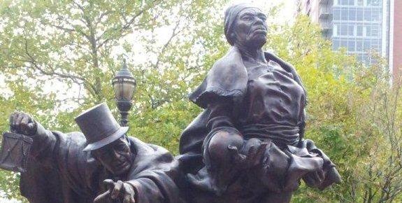 Statue of Thomas Garrett and Harriett Tubman