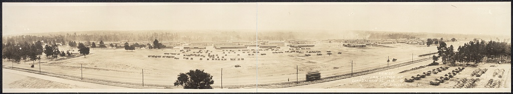 View of eastern section of Camp Jackson, S.C., 1918