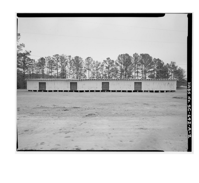 : Built during the first phase of Camp Jackson construction (June-September 1917), Fort Jackson, Division Store House No. 5 is one of two remaining World War I (WWI) structures on the base and the only one that has had no significant alteration. It i