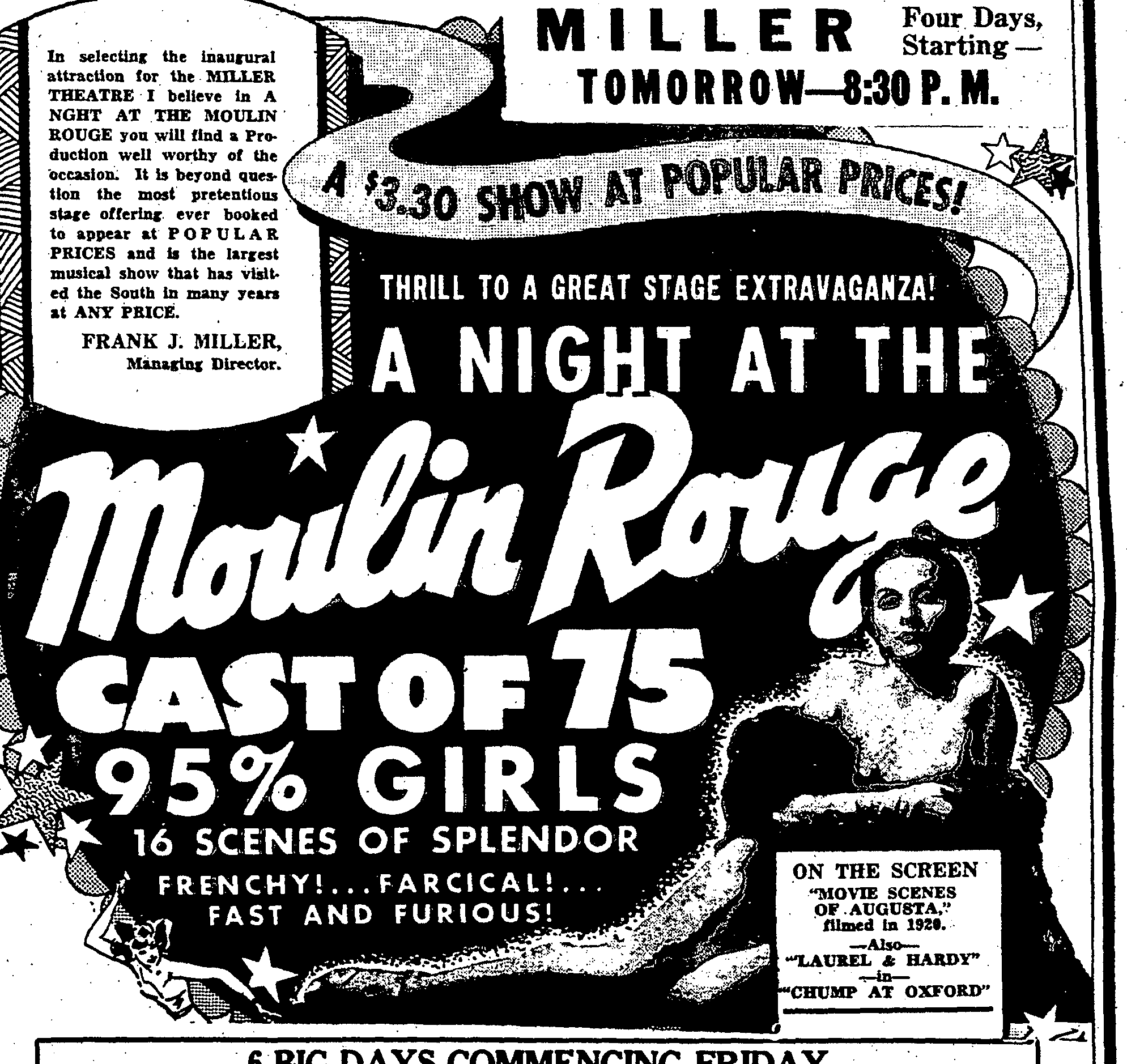 Ad for Premier Show