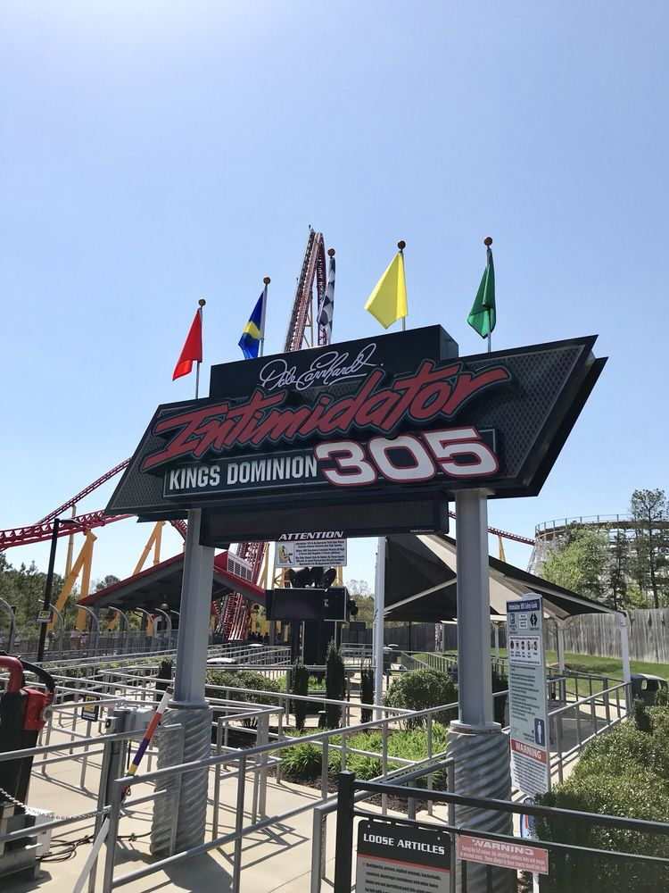 Intimidator 305 is a ride that is inspired by Dale Earnhardt.