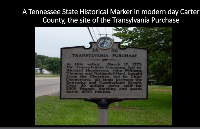 Plaque of the Treaty of Sycamore Shoals 1775