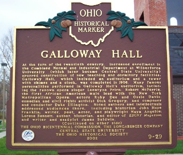 Historical Marker at Central State University (part a)