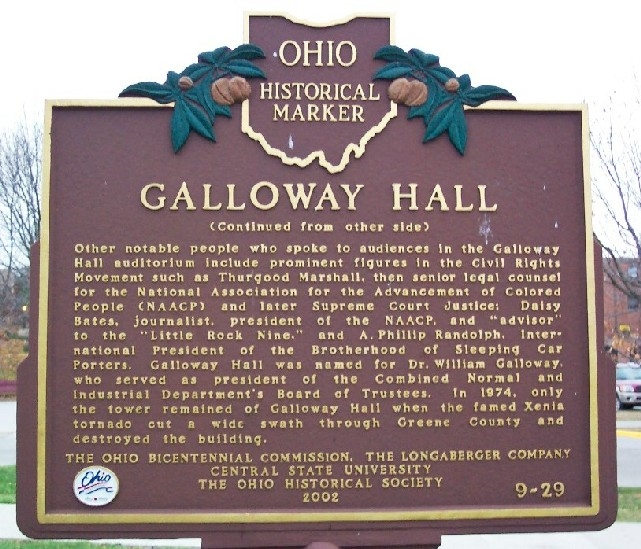 Historical Marker at Central State University (part b)
